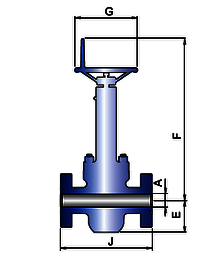 HIGH TEMPERATURE SERVICE GATE VALVE