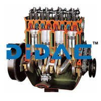 OHV Petrol Engine with Timing Chain Cutaway