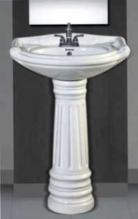 Rajwadi Set Pedestal Wash Basin
