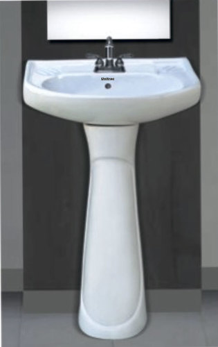 White Plain Pedestal Wash Basin