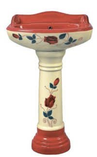 Ceramic Printed Pedestal Wash Basin