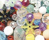Clear Acrylic Beads
