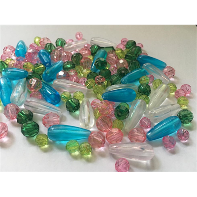 Mixed Acrylic Beads