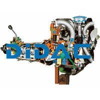 Turbo Diesel Engine For Car And Lorry With A Gearbox Cutaway