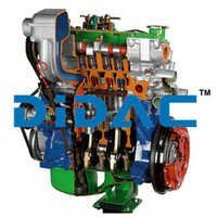 Diesel Engine For A Small Car Cutaway