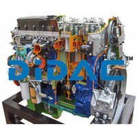 HGV Diesel Engine with Electronically Controlled Pump Injectors Cutaway