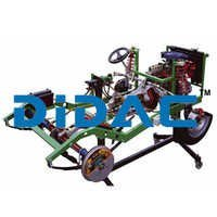 RWD Chassis With Turbo Diesel Engine Cutaway
