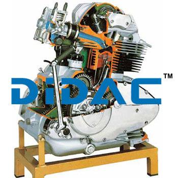 Motorcycle Petrol Engine Ducati Cutaway