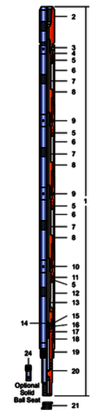 MODEL FURY 10 HYDRAULIC SETTING TOOL PARTS LIST
