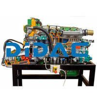 Marine Inboard Diesel Engine With Inverter Cutaway