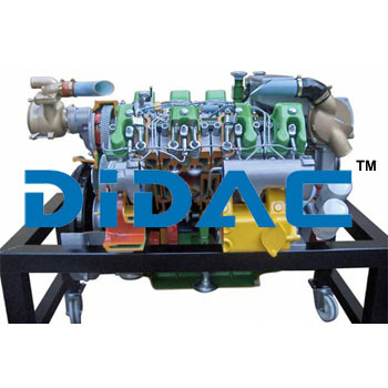 Marine Inboard Diesel Engine Without Inverter Cutaway