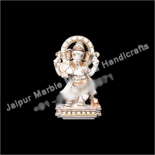 Marble Dancing Ganesh Moorti