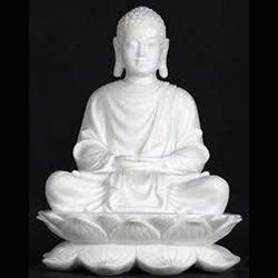 White Marble Gautam Buddha Statue