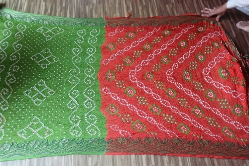 Bandhani Fancy Work Sarees
