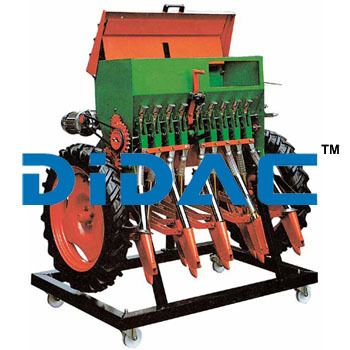 Nine Row Mechanical Seeder Cutaway