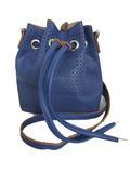 Blue Mini Bucket Bag