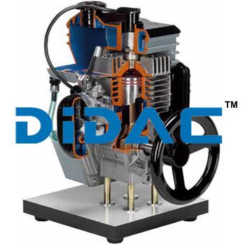 Two Stroke Petrol Engine Model Cutaway