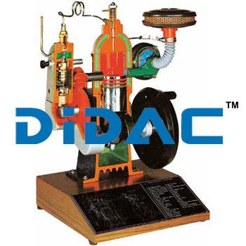 Two Stroke Direct Injection Diesel Engine Model Cutaway