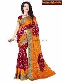 Latest Designer Bandhani Sarees