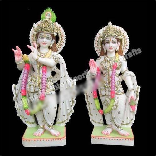Marble Lord Radha Krishna Sculpture