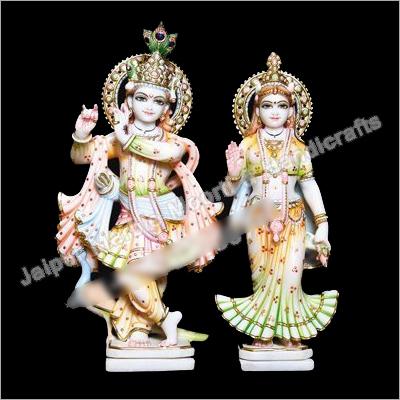 Beautiful Marble Radha Krishna Murti