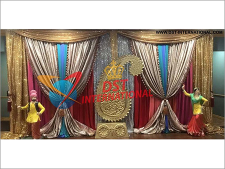 Wedding Stage Embroidered Backdrop