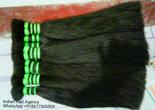 Black Human Double Drawn Hair