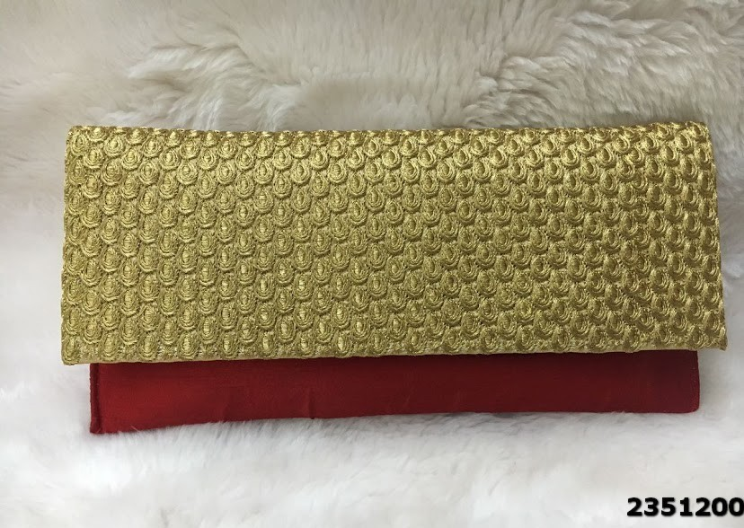 Latest Design Silk Clutch Bag With Short Sling