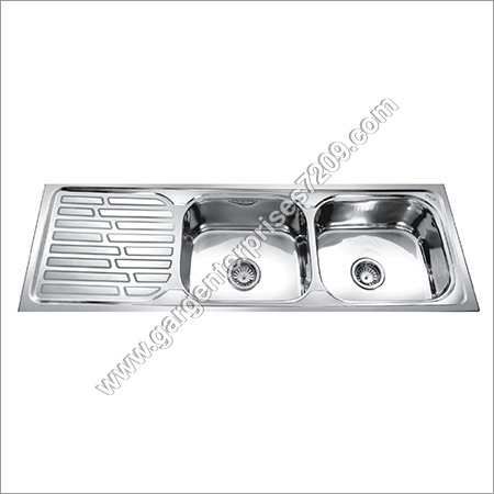 Double Bowl Kitchen Sink With Drain Board Sink