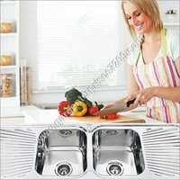 Double Bowl Sink With Double Drain Board Sink