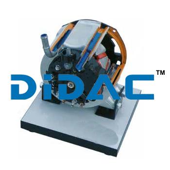 Alternator Liquid Cooled Windingless Rotor Compact Cutaway
