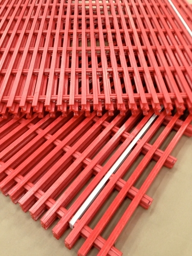 Red Fiberglass Grating
