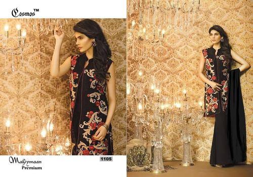 Designer Party Wear Black Color Latest Salwar Kameez