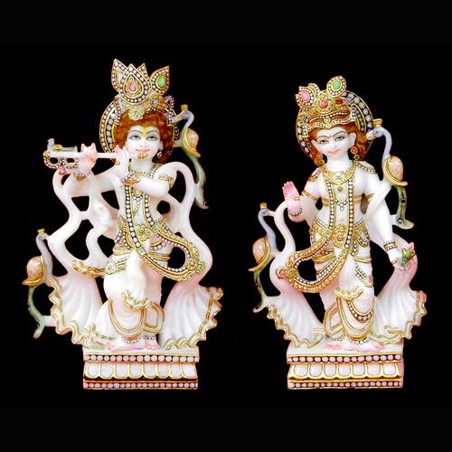 Marble Moorti Krishna Radha Rani