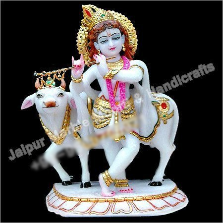 Statue Krishna With Cow