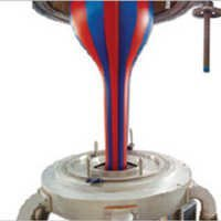 Double Color Stripe Plastic Film Blowing Machine