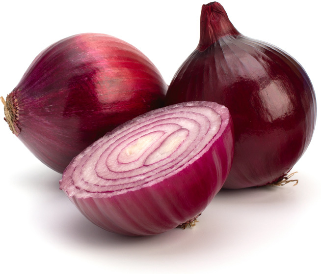 Fresh Cut Red Onion