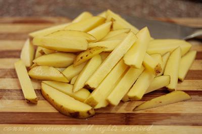 Fresh Cut Potato