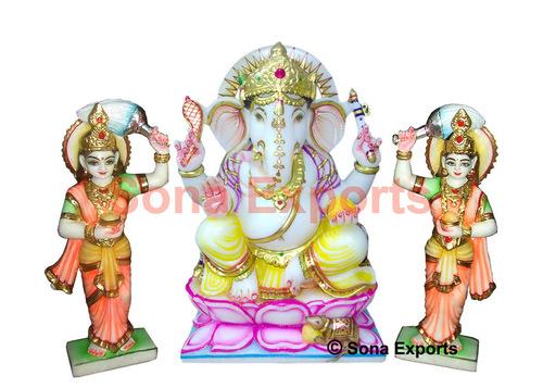 Marble Riddhi Siddhi Ganesha statue