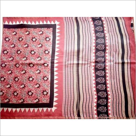 Kalamkari Block Printed Chanderi Silk Saree