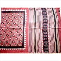 Kalamkari Block Printed Chanderi Silk Saree
