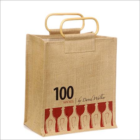 Jute Carry  Wine Bags