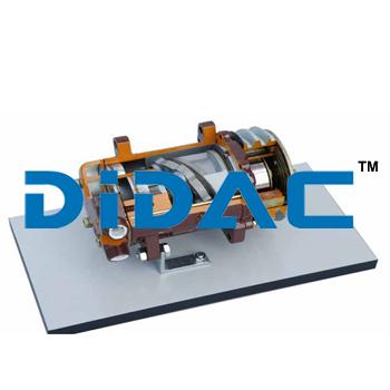 Axial Alternative Compressor With Simple Effect Piston Cutaway