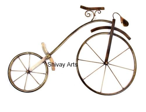 Contemporary Metal Iron Cycle Bicycle Wall Decor Wall Hanging