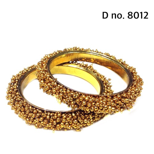 Indian Ethnic Gold Beads Bangles