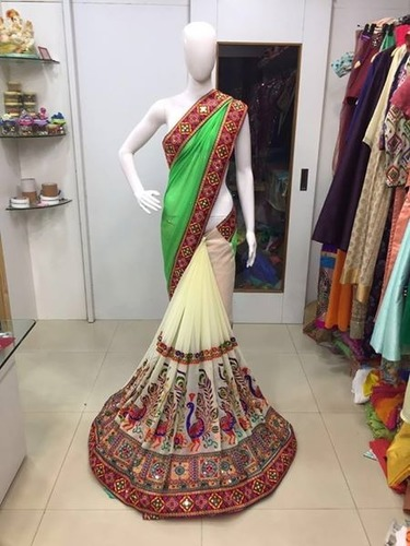 Fancy Designer Party Wear Heavy Work Saree
