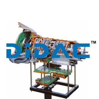 RWD Four Speed Automatic Transmission Cutaway
