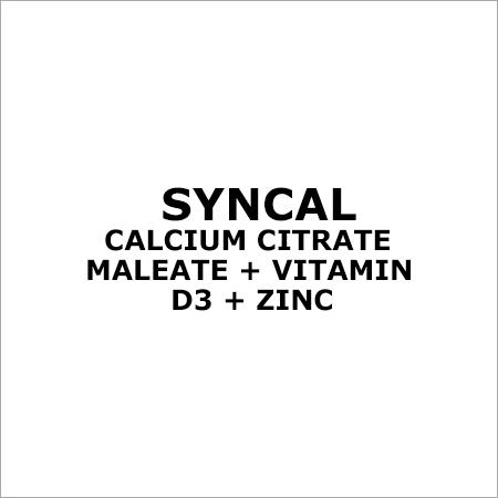 Calcium Citrate Maleate + Vitamin D3 + Zinc