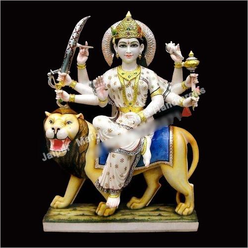 8 Hand Marble Durga Maa Moorti