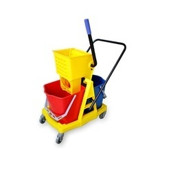 DOUBLE BUCKET WRINGER TROLLEY 34LTR/46LTR
